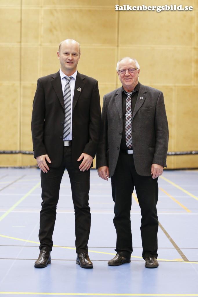 Ordförande Jari Kinnunen och tävlingsledare Heimo Käki